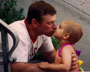 John kissing his beloved daughter Kate